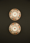 C15-1 Red green decorated bowls