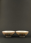C15-5 Red green decorated bowls