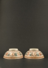 C15-6 Red green decorated bowls