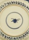 "C18-4 Blue white ""Kraak"" style plate"