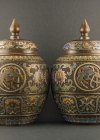 B2-1 Bronze champlevé vases