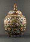 B2-7 Bronze champlevé vases