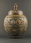 B2-8 Bronze champlevé vases