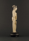 I1-2 Ivory statue of lady with lotus