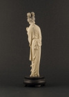 I1-3 Ivory statue of lady with lotus