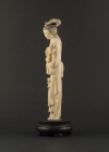 I1-4 Ivory statue of lady with lotus