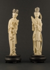 I1-5 Ivory statue of lady with lotus