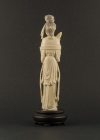 I2-3 Ivory statue of lady with organ