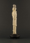 I2-4 Ivory statue of lady with organ