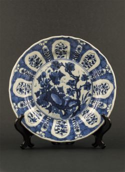 "C18-1 Blue white ""Kraak"" style plate"