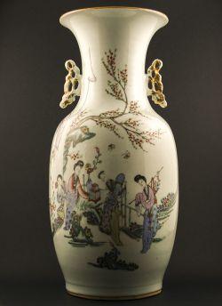 C31-1 Polychrome baluster vase
