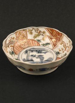 C4-1 Kakutomi Imari rice bowl